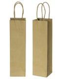 Wine brown paper bag for bottles Stock Images
