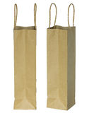 Wine brown paper bag for bottles Royalty Free Stock Image