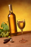 Wine with bunch of grapes Royalty Free Stock Photo