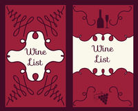 Wine business cards set Royalty Free Stock Image