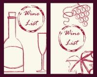 Wine business cards set royalty free illustration