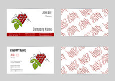 Wine business vector template. Royalty Free Stock Images