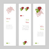 Wine business vector template. Royalty Free Stock Photography