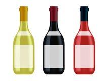 Wine buteljerar Arkivbilder