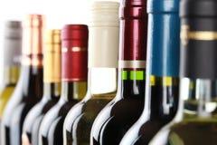 Wine buteljerar Arkivfoto
