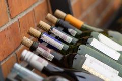 Wein auf den Regalen Lizenzfreies Stockbild