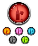 Wine button icon royalty free illustration