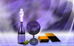 Wine and cake Royalty Free Stock Photography