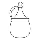 Wine carafe cork thin line. Vector illustration eps 10 Stock Photos