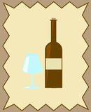 Wine card Royalty Free Stock Images