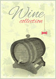 Wine Card. Menu Wine Card with Cask in Retro Style. Illustration stock illustration