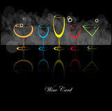 Wine card background alcohol drink glass. Vector Royalty Free Stock Photos