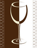 Wine card background alcohol drink glass. Vector Royalty Free Stock Image