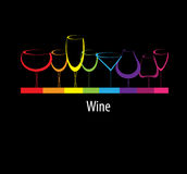 Wine card background alcohol drink glass Stock Images
