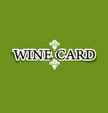 Wine card concept menu on peace of paper. Vector Stock Image