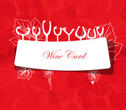 Wine card concept menu on peace of paper Stock Images