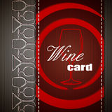 Wine card design Stock Photos