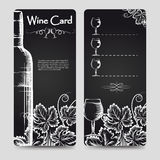Wine card menu flyers template Royalty Free Stock Photos