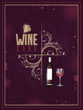 Wine card in vintage style. Royalty Free Stock Photo