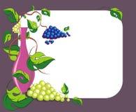 Wine card1 Royalty Free Stock Photos