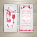Wine cards and labels design Stock Photos
