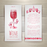 Wine cards and labels design Royalty Free Stock Images