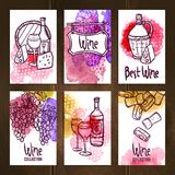 Wine Cards Set Royalty Free Stock Photos