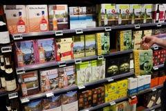 Wine cartons Stock Photography