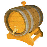 Wine Cask. Wine Wooden Vintage Cask on White Background.  Illustration Stock Image