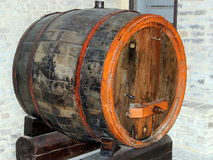 Wine cask. The picture shows a wine cask in Tolentino, Marche, Italy royalty free stock photo