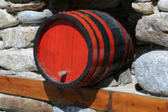Wine Cask. In traditional restaurant in Bulgaria stock photos