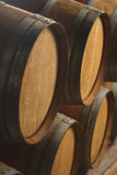 Wine Casks In Cellar Royalty Free Stock Photos