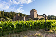 Wine castle in Napa Valley Stock Photo