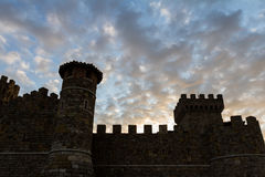 Wine castle at sunset Royalty Free Stock Photography