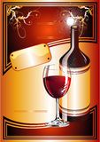Wine Catalog Flayer background Royalty Free Stock Photo