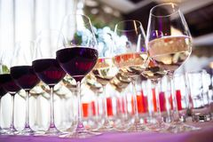 Free Wine Catering For Guest Stock Photography - 140964712