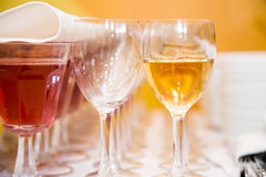 Wine catering for guests Royalty Free Stock Photo