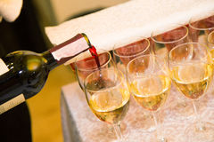 Wine catering for guests Stock Image