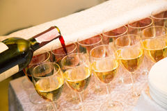 Wine catering for guests Stock Images