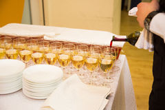 Wine catering for guests Stock Photography
