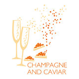 Wine and caviar Royalty Free Stock Image