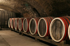 Wine cellar. An old wine cellar with barrels Stock Image