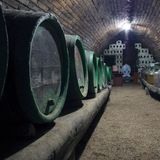 Wine cellar. Barrels of wine.South Moravia,Czech republic Royalty Free Stock Images