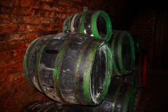 Wine cellar. A photo of a historic wine cellar in Moravia royalty free stock photo