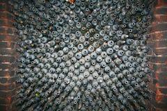 Wine cellar. Close up shot of a wine cellar Stock Photos
