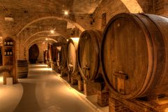 Wine cellar in Abbey of Monte Oliveto Maggiore Royalty Free Stock Photography