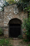 Wine cellar arched gate Royalty Free Stock Photography
