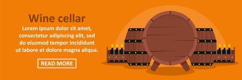 Wine cellar banner horizontal concept Stock Photos