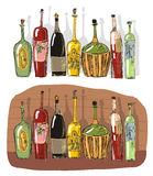Wine cellar with beeswing. Drawing Wine cellar with beeswing Stock Photos