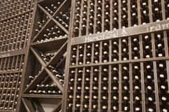 Wine cellar with the bottles Stock Images